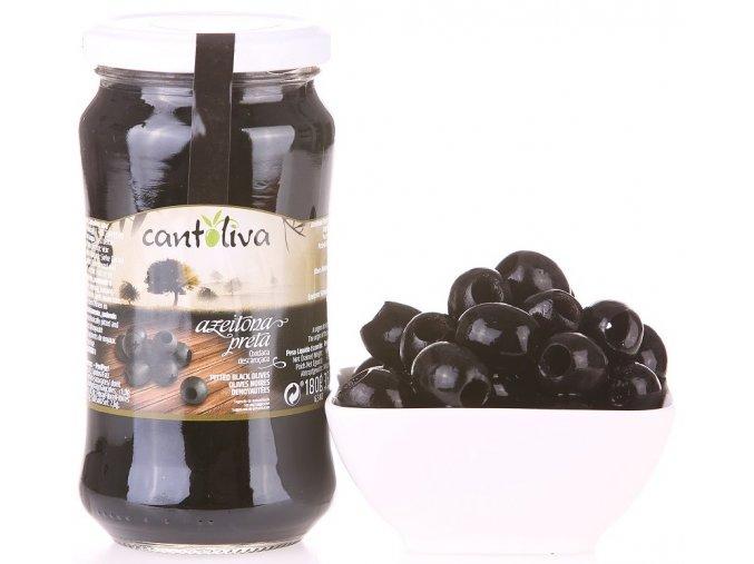 Olivy černé vypeckované 360g
