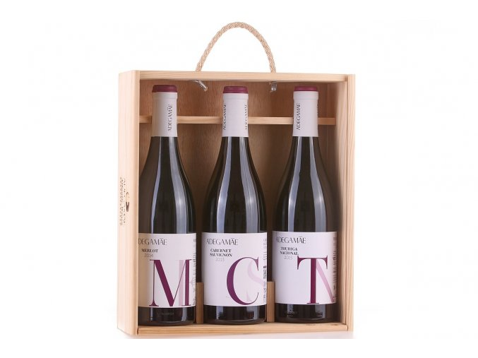 Dárková sada 3 odrůdových vín Adega Mae