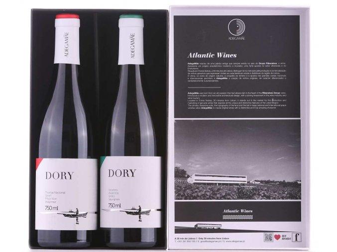 Dárková sada bílého a červeného vína Dory