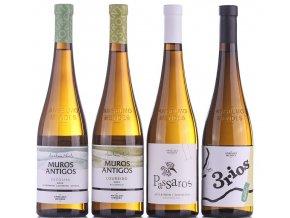 sada zelených vín Vinho Verde