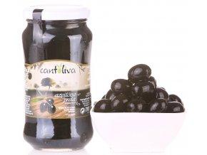 Olivy černé s peckou 360g