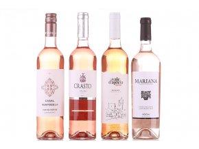 Májová sada růžových vín