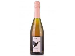 růžové šumivé víno z odrůdy Baga