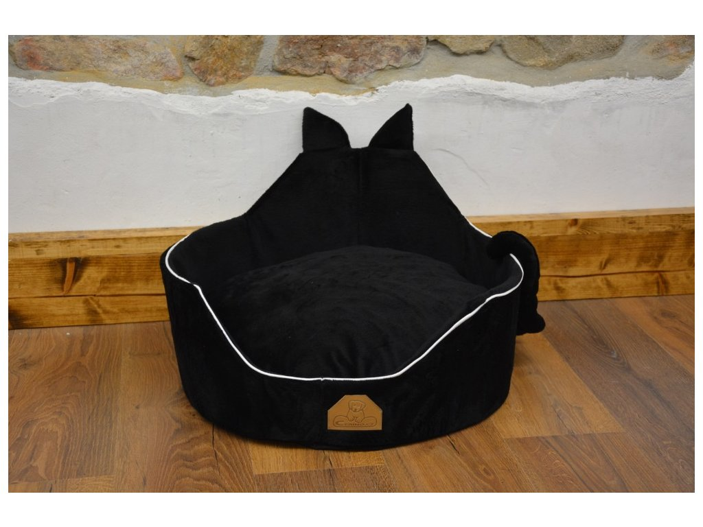 Cerino luxusní měkoučký pelíšek ANIMAL průměr 60cm černý