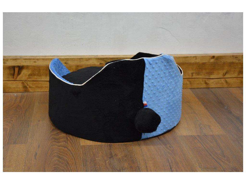 Cerino luxusní měkoučký pelíšek ANIMAL průměr 60cm modrá a černá