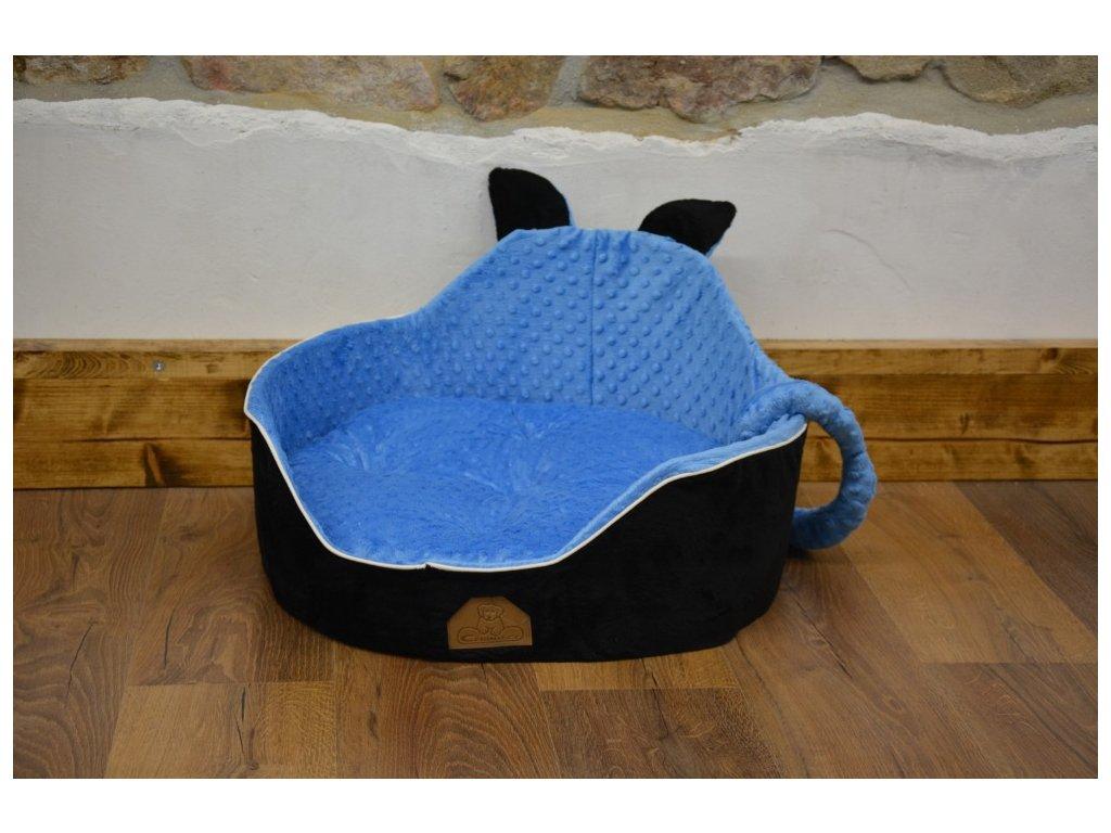 Cerino luxusní měkoučký pelíšek ANIMAL průměr 60cm modročerný