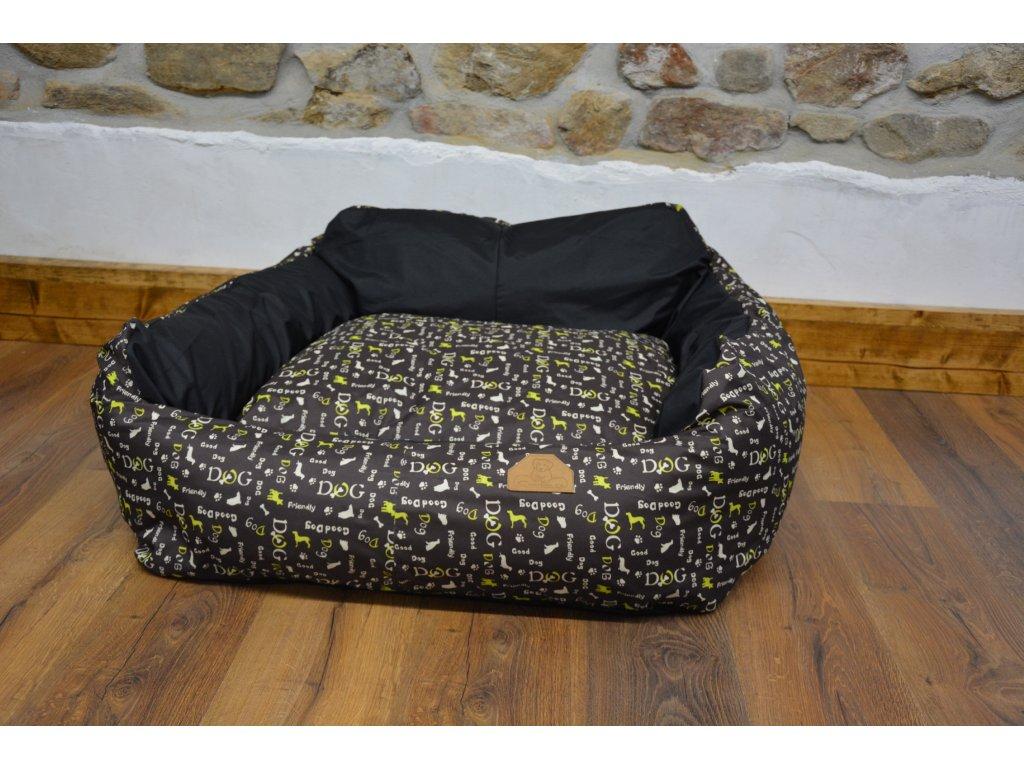 Cerino pelech pro střední plemena Imola křeslo 110 x 95 x 20 limetka dog a vnitřek černý
