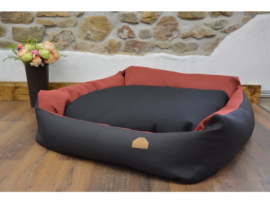 Cerino pelech Křeslo Imola M ORCA 125 x 115 x 15 textilní čermočervený