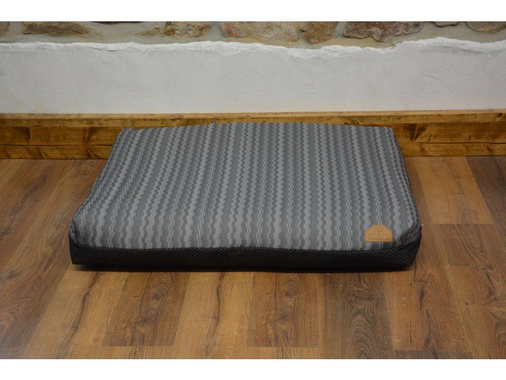 Cerino Pelech MODENA0007, 100 x 85 x 15 textilní kostka šedá