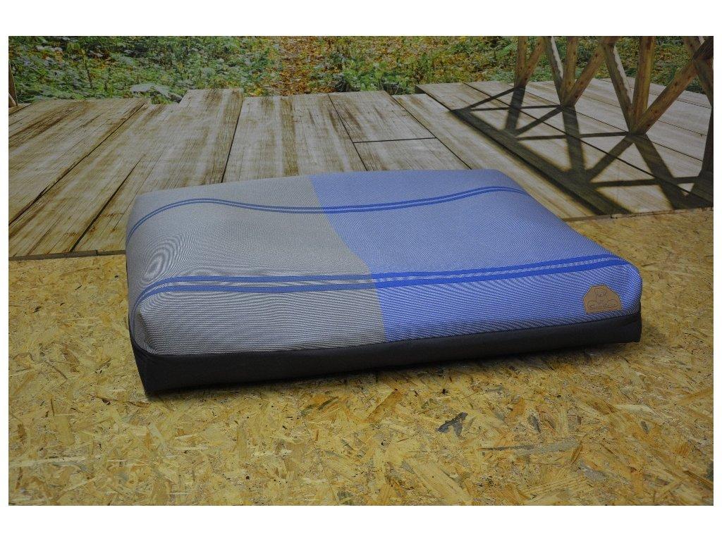 Cerino Pelech MODENA0101, 100 x 85 x 15 textilní,šedo modrá
