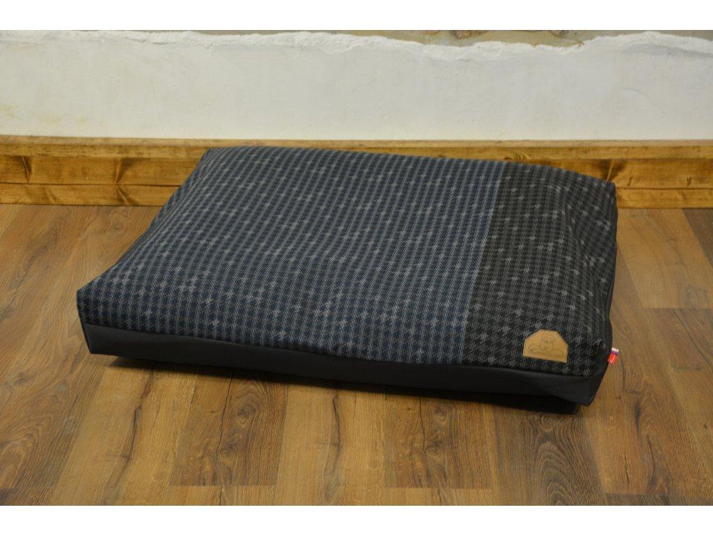 Cerino Pelech MODENA 100 x 85 x 15 textilní šedá se zeleným nádechem