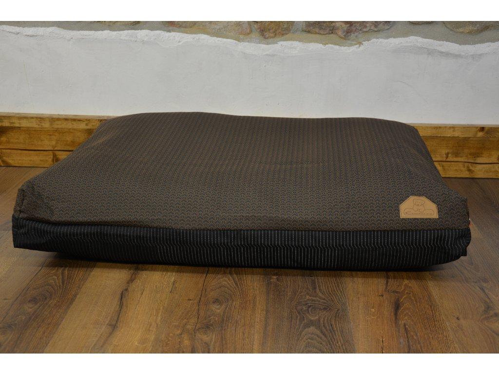 Cerino Pelech MODENA 100 x 85 x 15 textilní HNĚDOORANŽOVÝ VZOREK