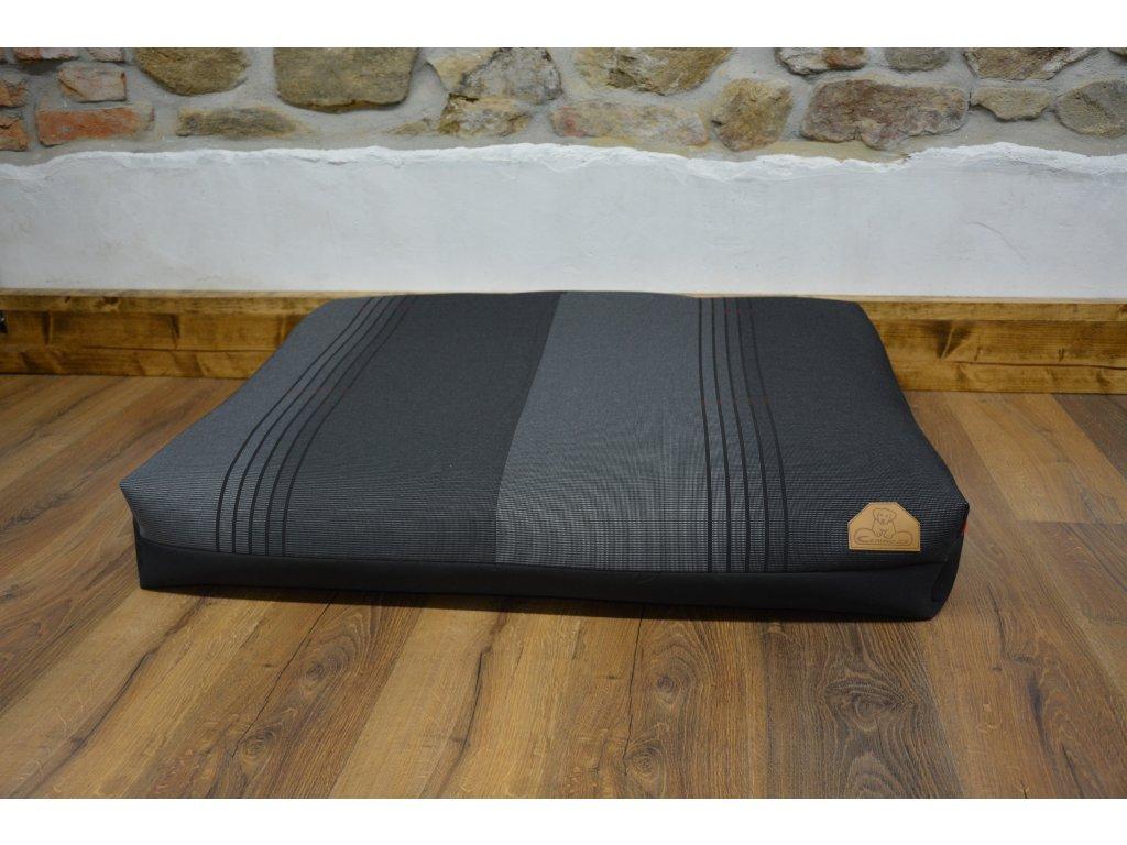 Cerino Pelech MODENA054, 100 x 85 x 15 textilní černý stříbrná