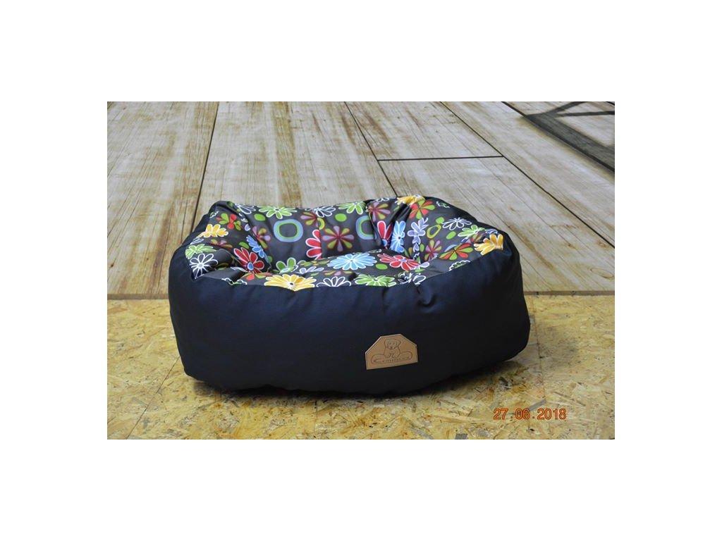 Cerino pelíček NEST ovál 60cm x 55cm x 18cm celokostka textilní
