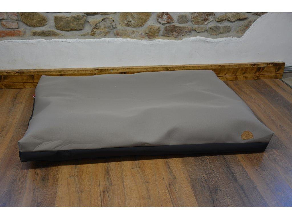 Cerino pelech Ortona 160x120x15 textilní - SVĚTLE ŠEDÁ