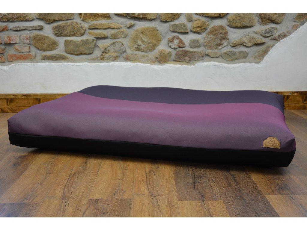 Cerino pelech Ortona 160x120x15, textilní  TMAVÝ VZOROVANÝ