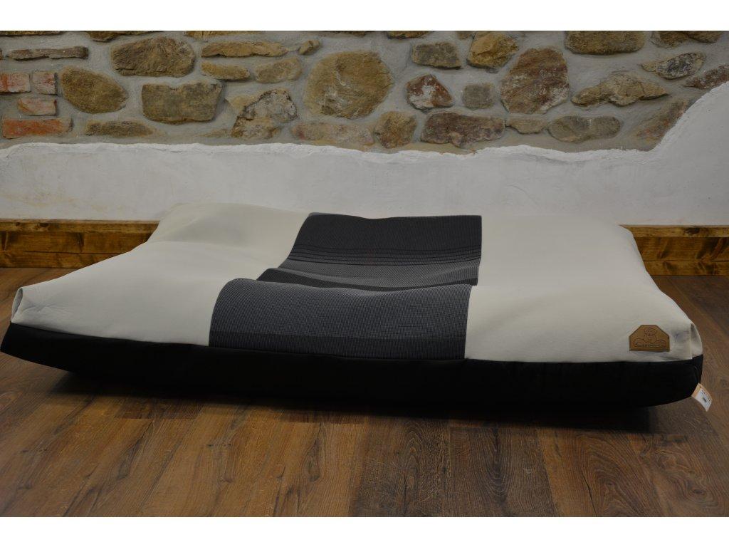 Cerino pelech Ortona 160x120x15, textilní - černá se vzorem