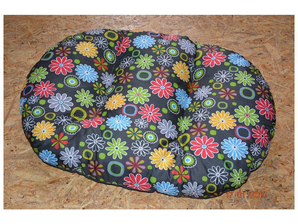 Cerino poduška pro psy a kocky 90 x 60 x 10 vzor kytička