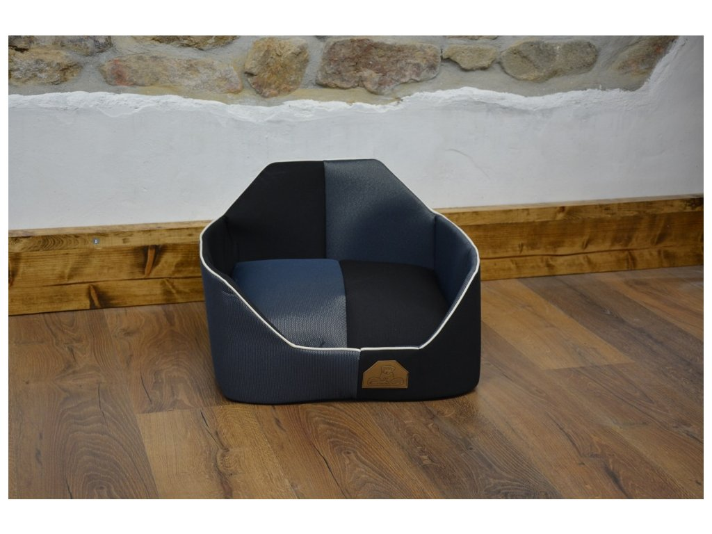 Cerino pelech křeslo TIMON S 45x45 cm modročerný