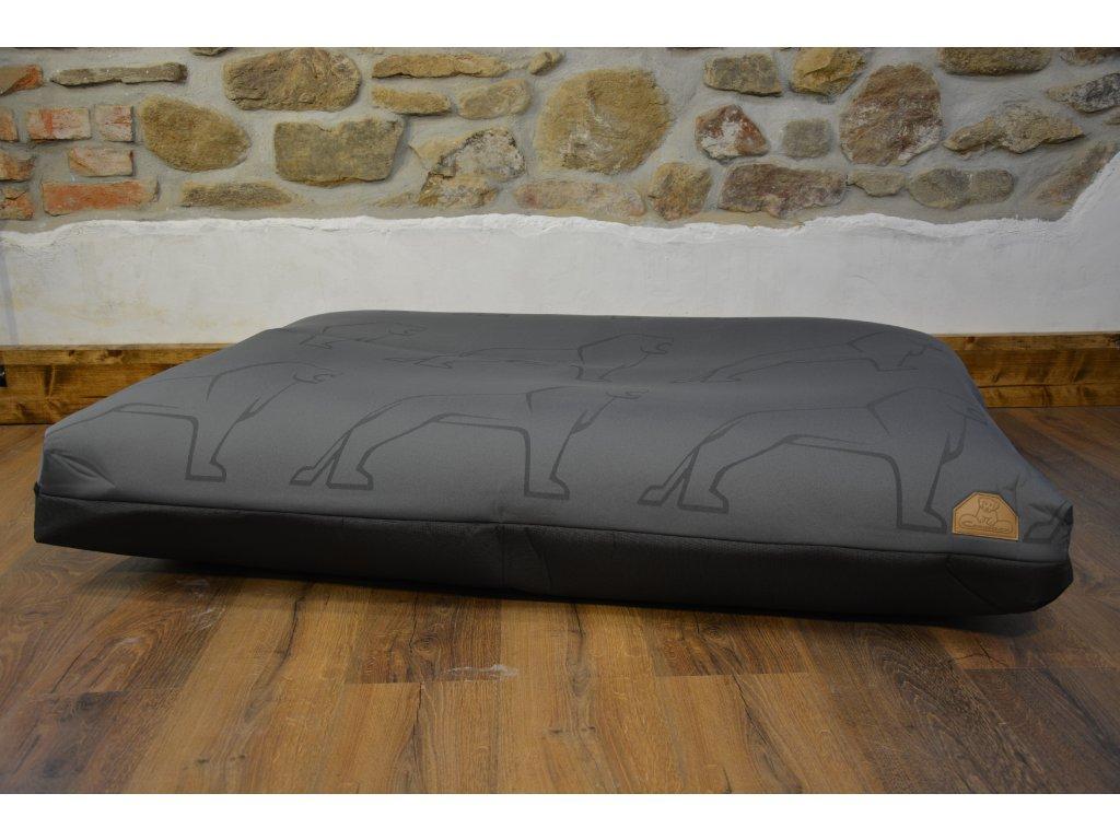 Cerino pelech Verona 140x100x15 textilní - ŠEDÝ LEV