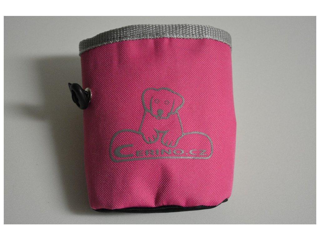 Pamlskovník na klip 12x10 cm růžový