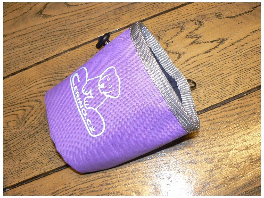Pamlskovník na klip 12x10 cm fialový