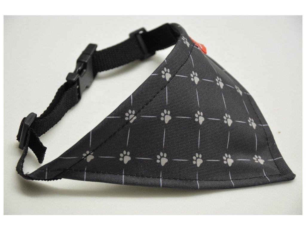 Šátek malý vzor ťapičky