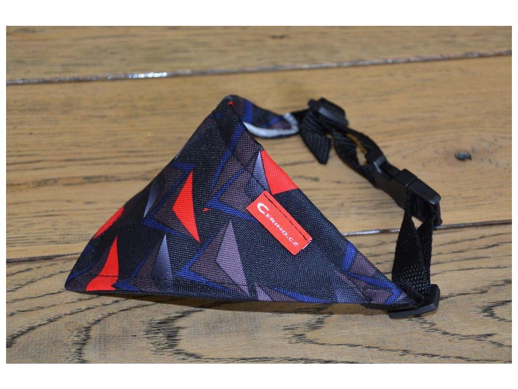 Šátek velký vzor trojúhelníky