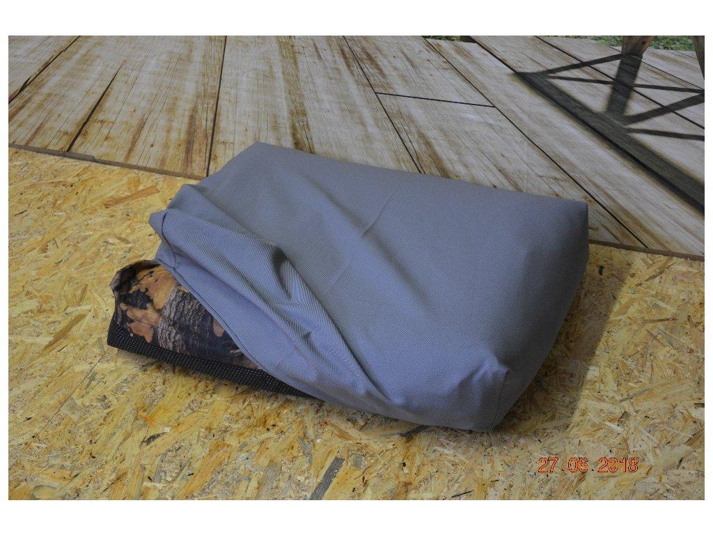 Cerino prostěradlo na pelech Modena-Š, šedé ,100x85x15