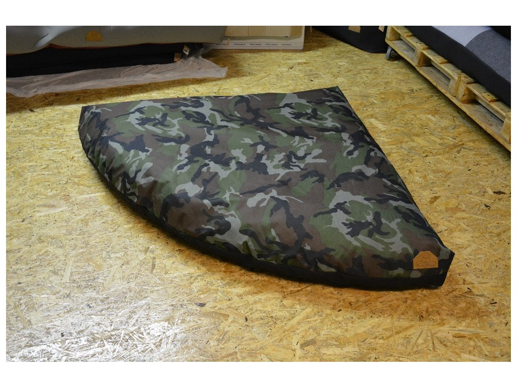 Cerino pelech rohový M 120x120cm voděodolný barva maskáč