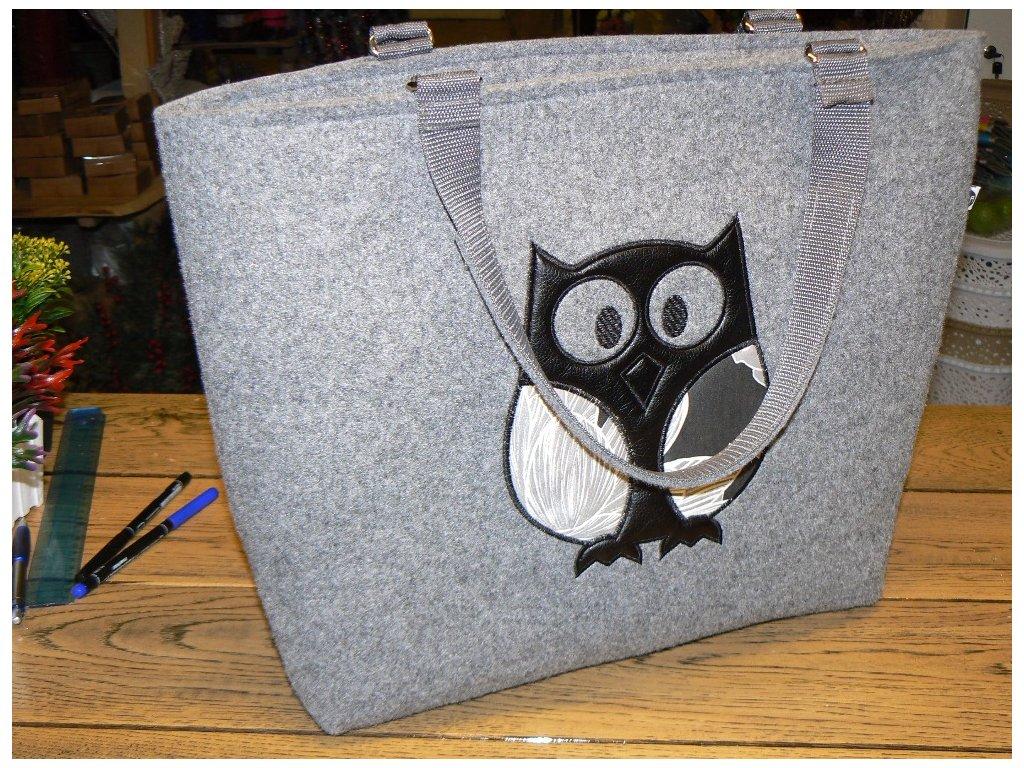 Luxusní taška z filcu 48 x 38 x 12