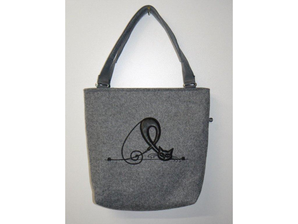 Luxusní taška z filcu 37 x 33 x 10