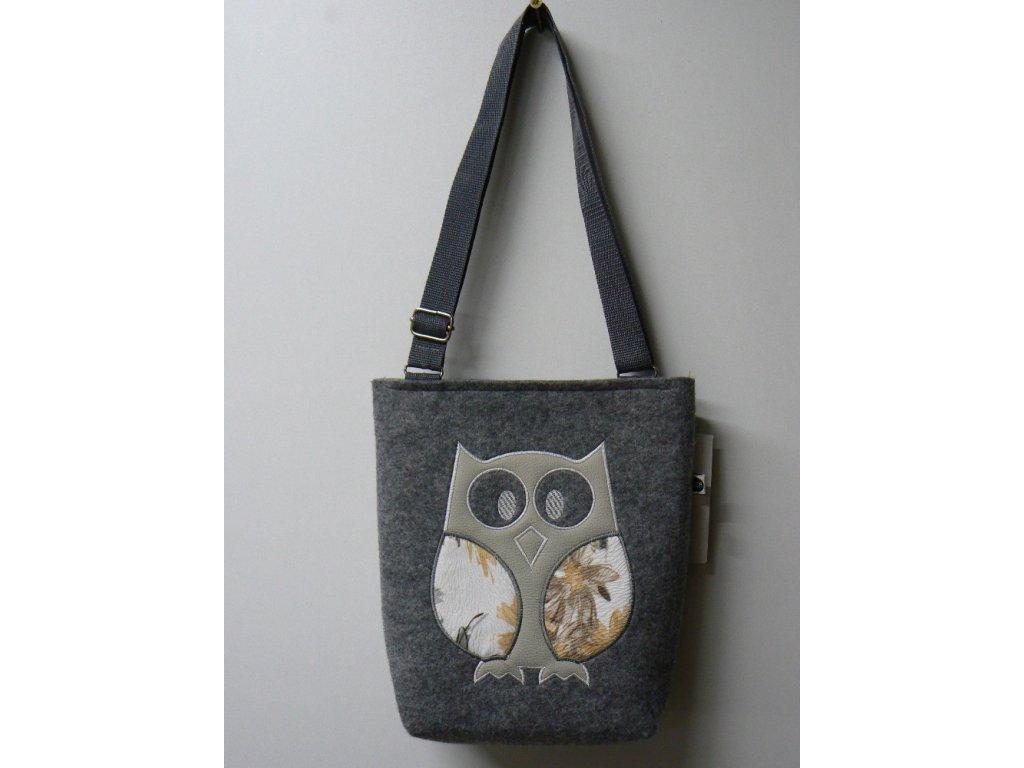 Luxusní taška z filcu 25 x 29 x 7