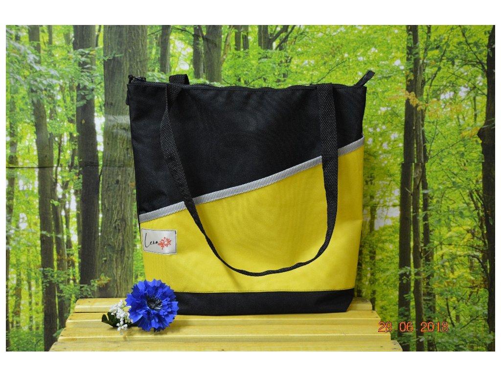 Taška LENA GRADE 2 30x36x9 černá/žlutá