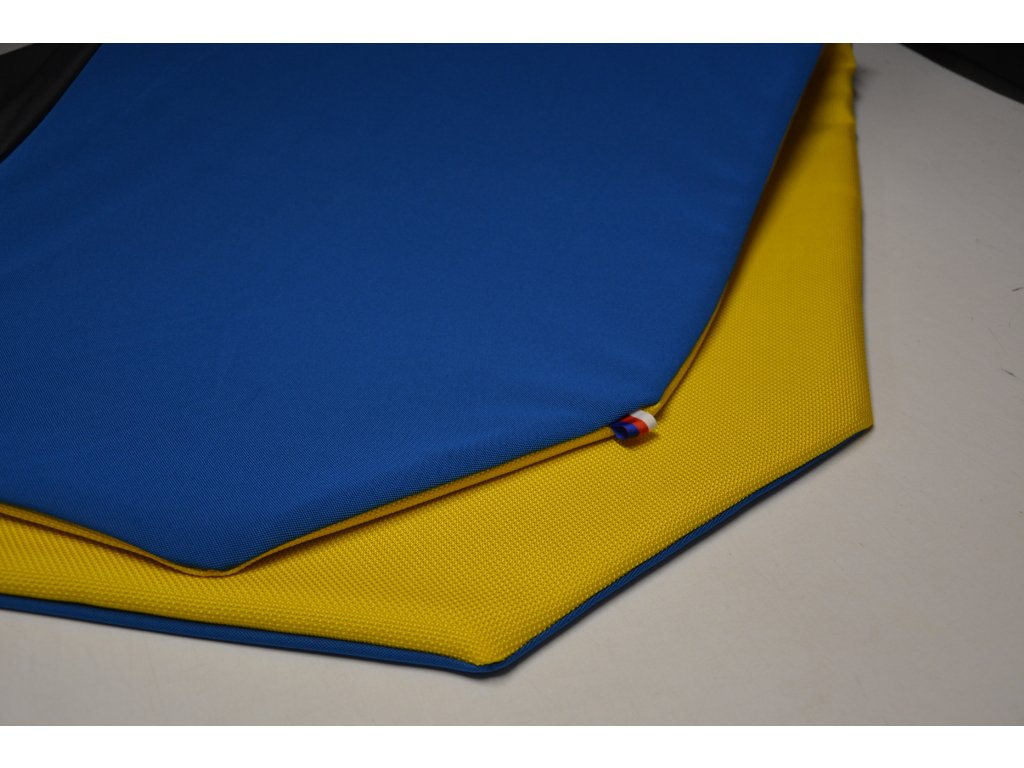 Cerino chránič S pro malá plemena  80 cm x 80 x 52 cm modrá a žlutá