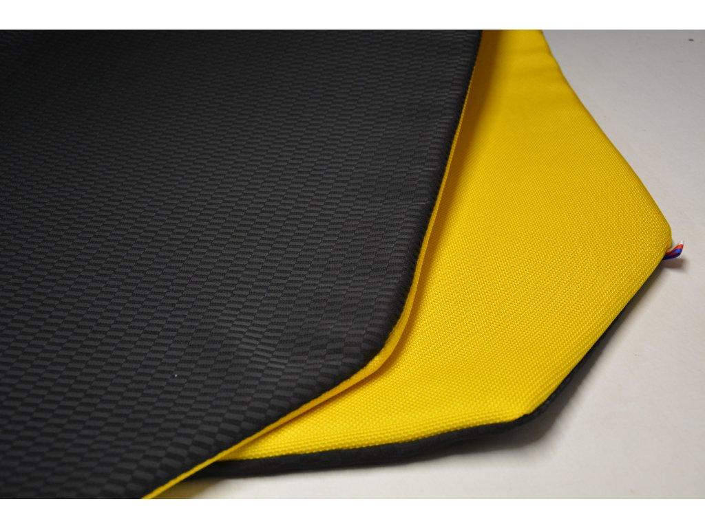 Cerino chránič S pro malá plemena  80 cm x 80 x 52 cm černá a žlutá