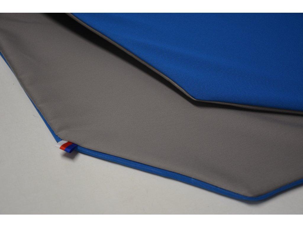 Cerino Chránič M - pro střední plemena 98 cm x 98 x 52 cm modrá a šedá