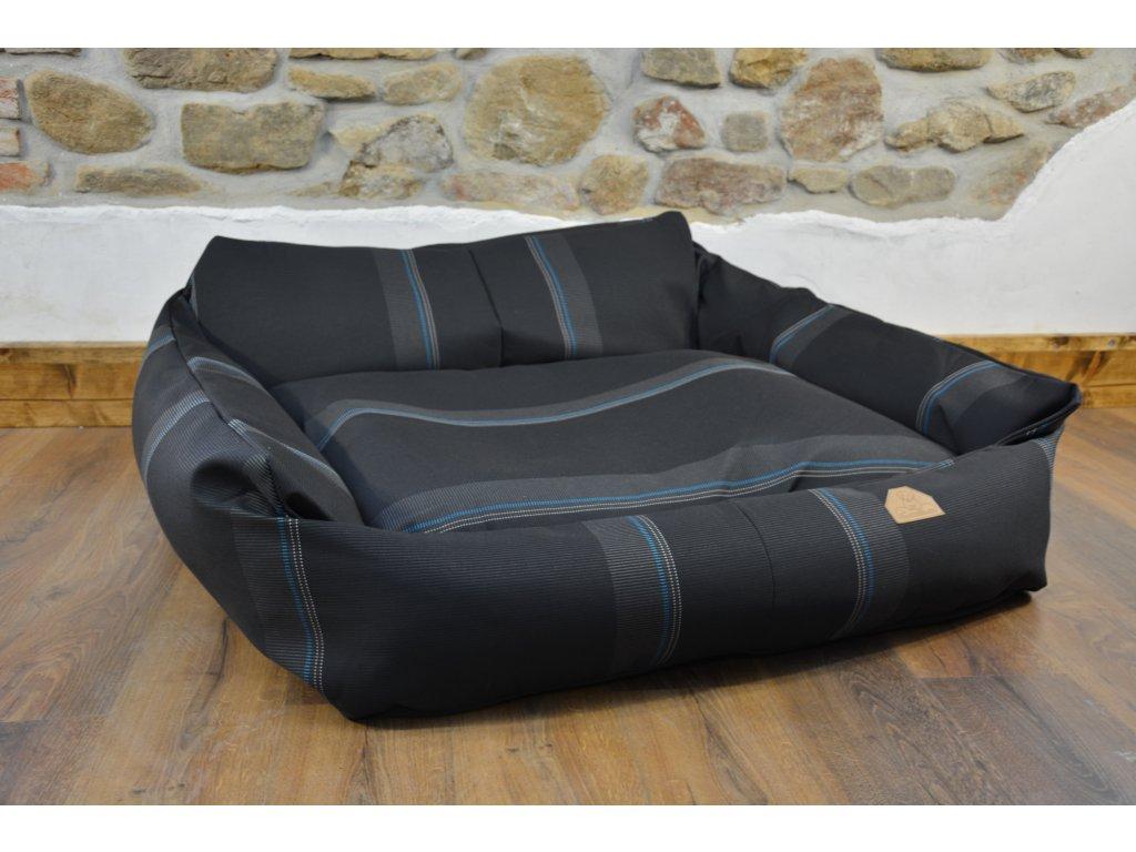 Cerino pelech Křeslo Imola M ORCA 125 x 115 x 15 cm - Textilní zátěžová látka - PRUH/PRUH