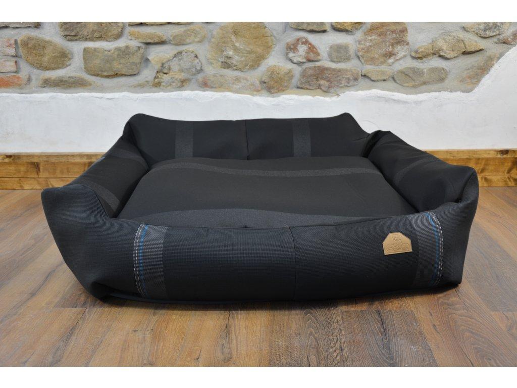 Cerino pelech Křeslo Imola M ORCA 125 x 115 x 15 cm - Textilní zátěžová látka - PRUH A ČERNÝ POLŠTÁŘ