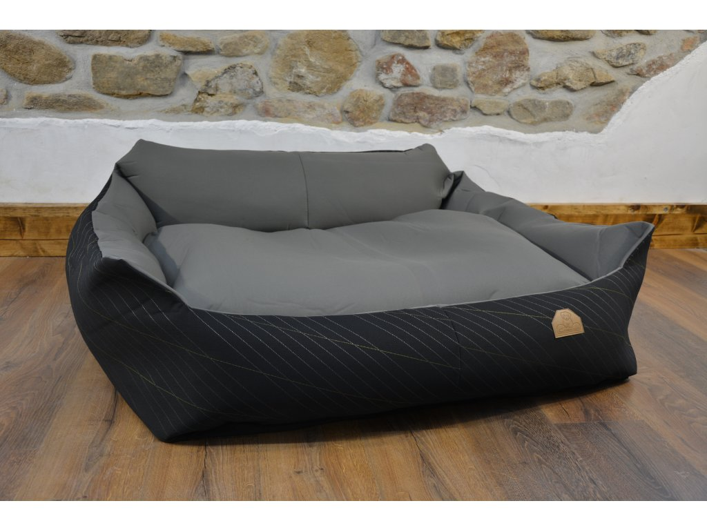 Cerino pelech Křeslo Imola M ORCA 125 x 115 x 15 cm - Textilní zátěžová látka - STŘÍBRNÝ PROUŽEK/SVĚTLÁ
