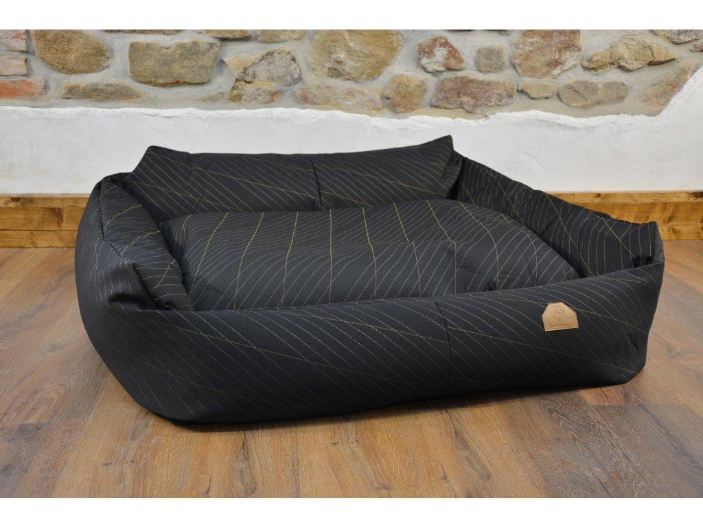 Cerino pelech Křeslo Imola M ORCA 125 x 115 x 15 cm - Textilní zátěžová látka - CELOSTŘÍBRNÁ NIT