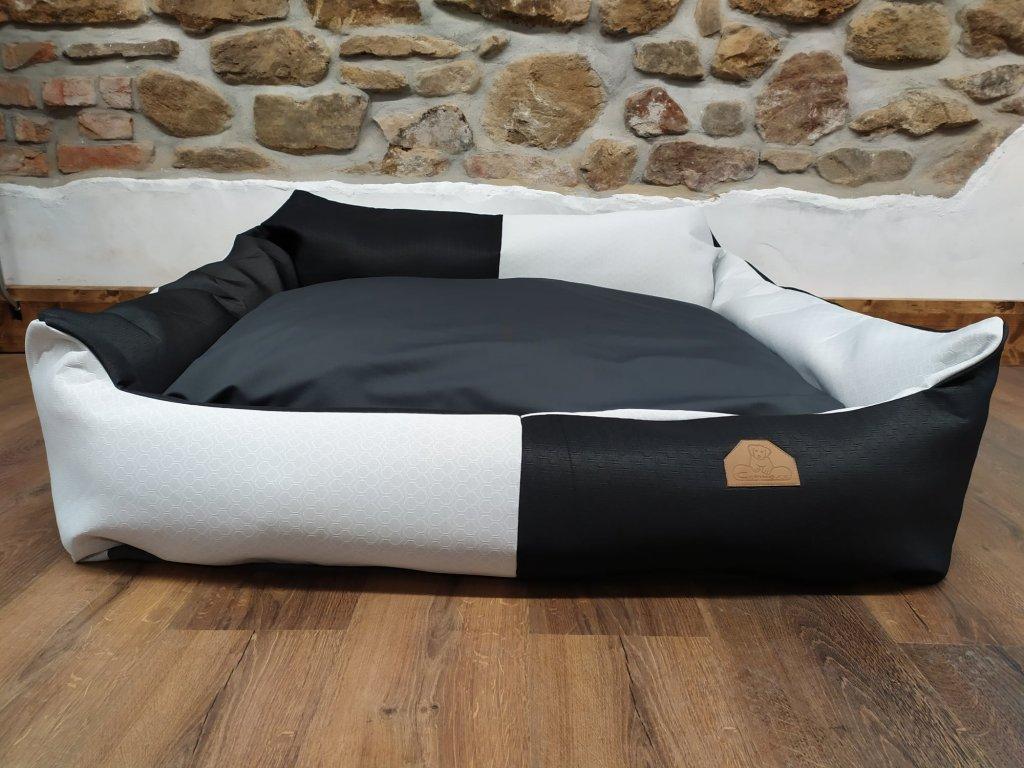 Cerino pelech Křeslo Imola M ORCA 125 x 115 x 15 cm - Textilní zátěžová látka - ČERNÁ/BÍLÁ