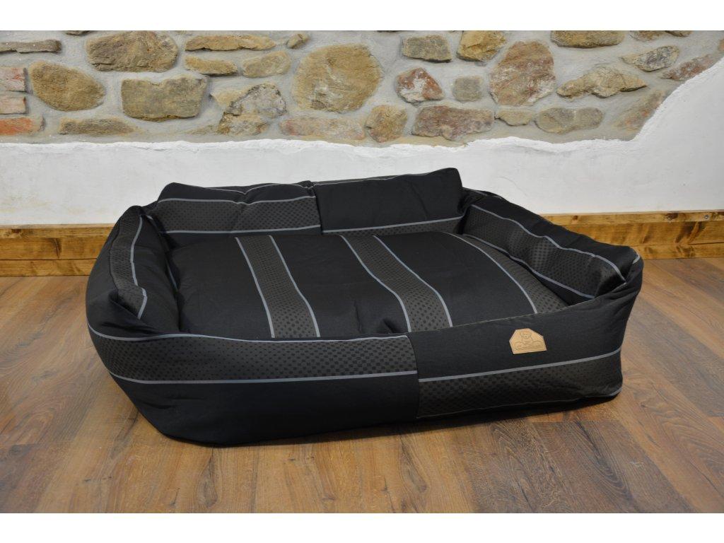 Cerino pelech Křeslo Imola M ORCA 125 x 115 x 15 cm - Textilní zátěžová látka - ELEGANTNÍ PRUH