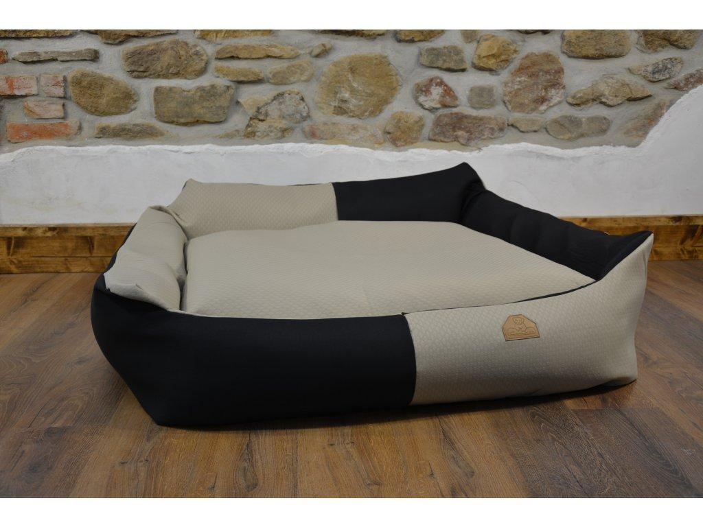 Cerino pelech Křeslo Imola M ORCA 125 x 115 x 15 cm - Textilní zátěžová látka - ČERNÁ/PLASTVE CIK CAK