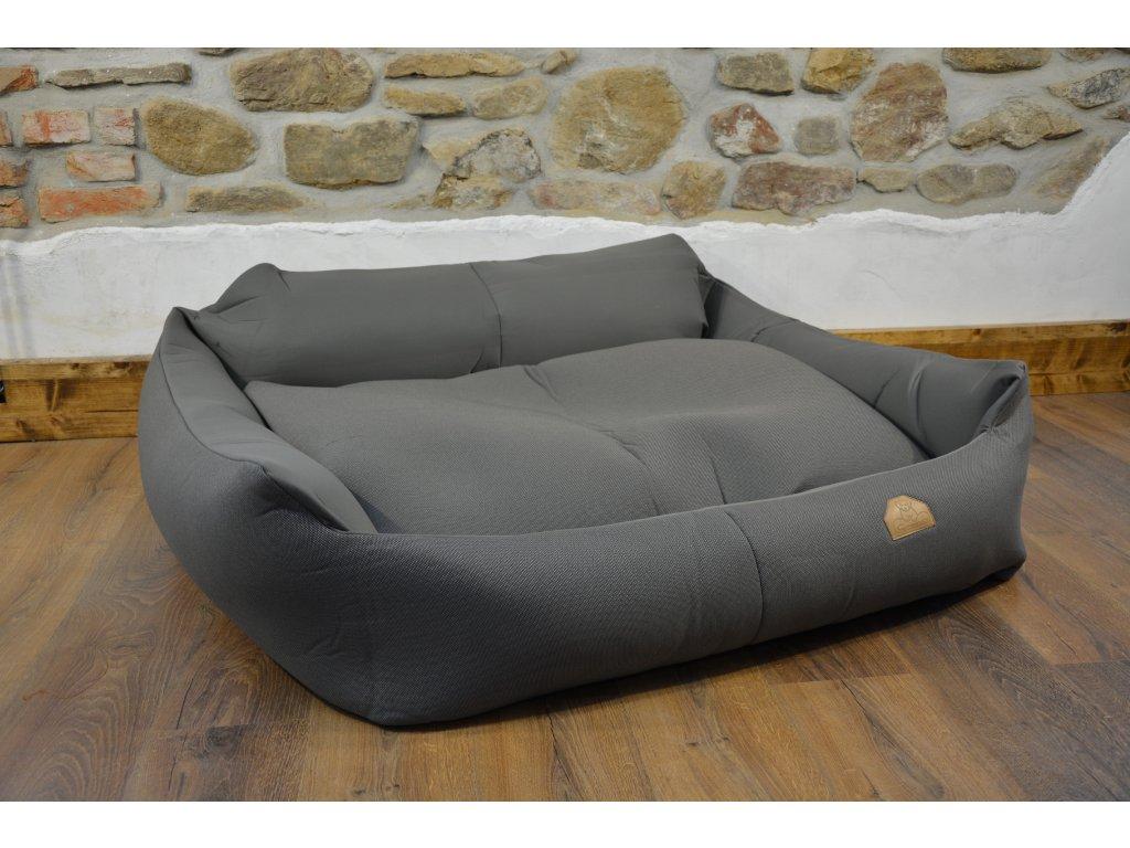 Cerino pelech Křeslo Imola M ORCA 125 x 115 x 15 cm - Textilní zátěžová látka - ANTRACIT/TMAVĚ ŠEDÁ