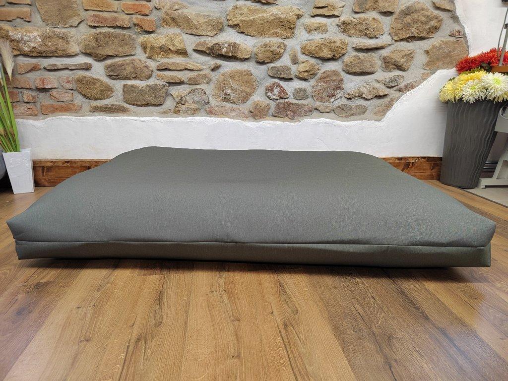 Cerino pelech Ortona 160x120x15 textilní - ŠEDÝ LEV