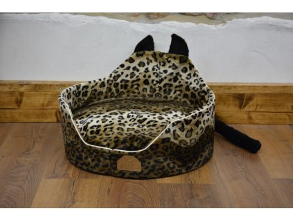 Cerino luxusní měkoučký pelíšek ANIMAL průměr 60cm černá béžová