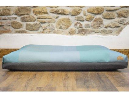 Cerino pelech Ortona 160x120x15 textilní bílý pruh