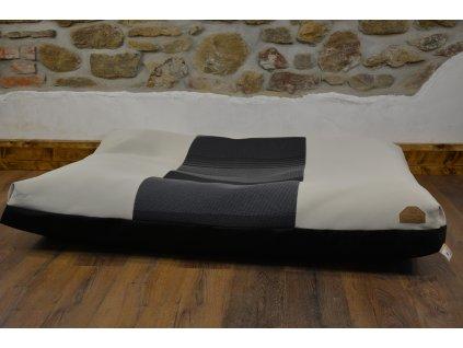Cerino pelech Ortona 160x120x15 textilní - SVĚTLÁ S ČERNÝM PRUHEM