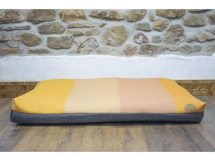 Cerino pelech Verona 140x100x15 textilní - fialová